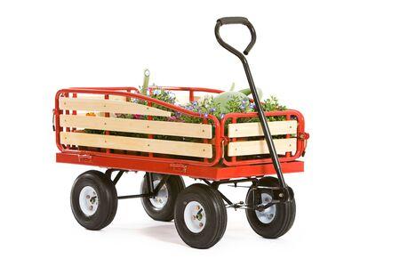 Garden: Wagon Full of Spring Gardening Supplies