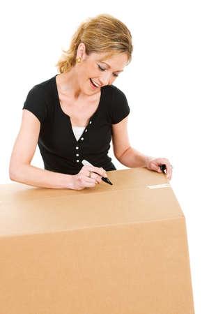 moving box: Boxes: Writing On Moving Box