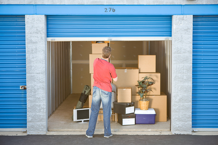 storage unit: Storage: Closing the Storage Unit Door