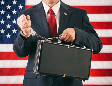 handcuffed: Politician: Man Handcuffed To A Briefcase Of Top Secret Information