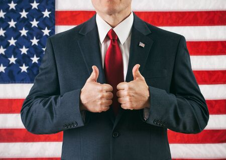 two thumbs up: Politician: Two Thumbs Up For Winning Man