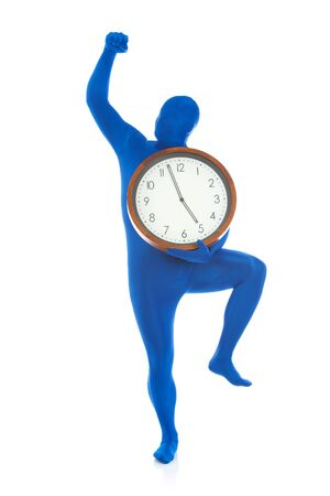 cheer full: Blue: Man Excited For Quitting Time Stock Photo
