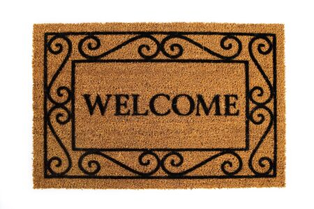 Door Mat: Friendly Welcome Door Mat Stok Fotoğraf - 57672564