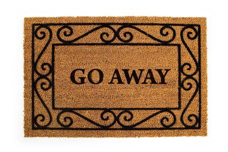 Door Mat: Message Says to Go Away