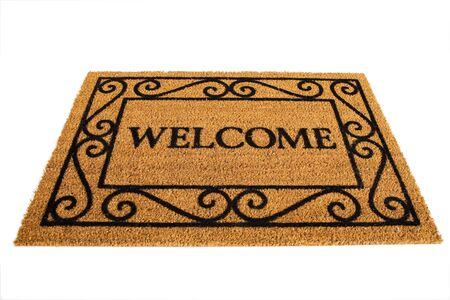 welcome door: Door Mat: Friendly Welcome Door Mat