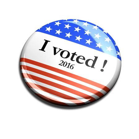 i voted: 2016 3d I Voted Buttons Stock Photo