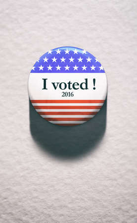 voting: Election: Single Voting Button On White Paper