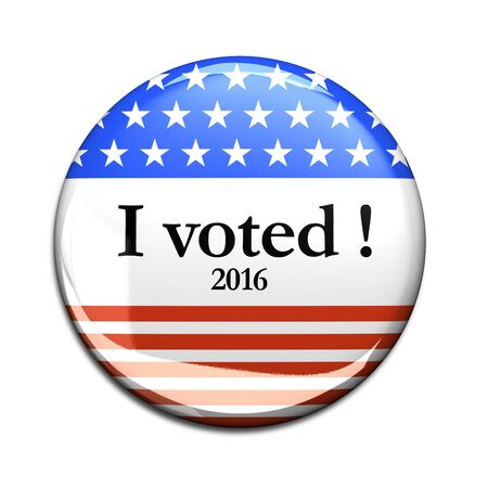 voted: 2016 3d I Voted Buttons Stock Photo