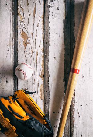 guante de beisbol: Verano: B�isbol, guante y fondo Bat