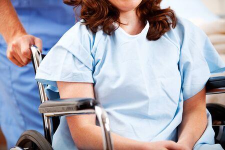 hospital patient: Hospital: Male Nurse Pushing Patient