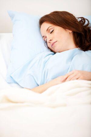 Ospedale: Addormentato paziente nel letto di ospedale