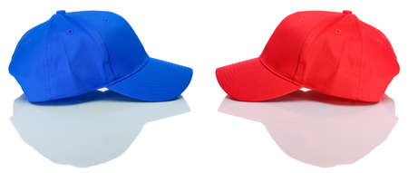 baseball caps: Baseball: Baseball Caps Head to Head Stock Photo