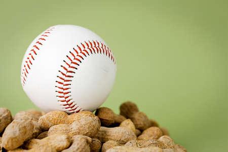 Baseball: Ball on Pile of Peanuts
