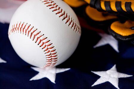 stitches: Baseball: Close Up on Baseball Stitches Stock Photo