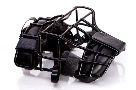 an umpire: Baseball: Umpire Mask Lying Down