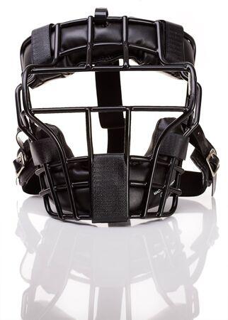 Baseball: Umpires Mask Isolated Stock Photo