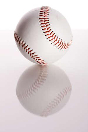 Baseball: Simple Baseball on White Stok Fotoğraf