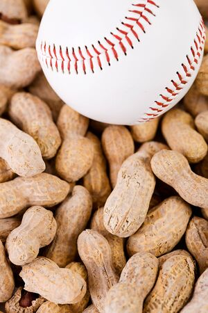 sports shell: Baseball: OVerhead View of Ball and Nuts