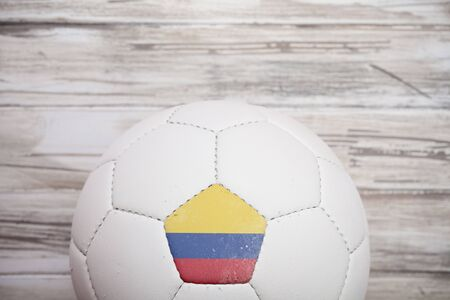 columbian: Soccer: Columbian Soccer Ball Background For International Competition