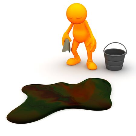 3d Guy: Has to Clean Up Oil Spill
