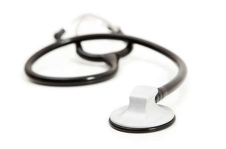 Isolated stethoscope. Imagens