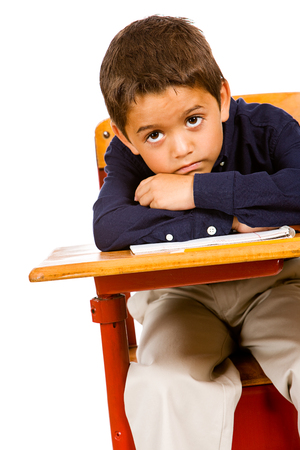 bored student: Student: Bored Student At Desk