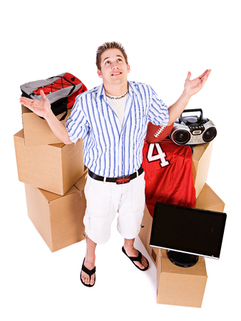 dorm: Student: Guy Has Too Much Stuff To Move To Dorm Room