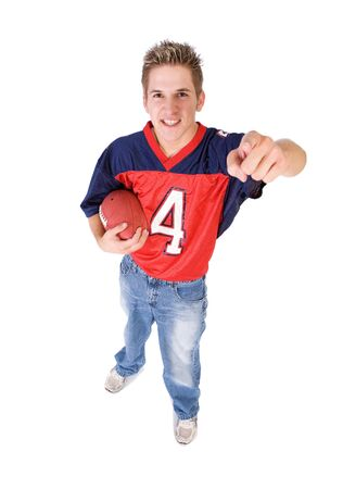opposing: Football: Fan Ready To Take On Opposing Team