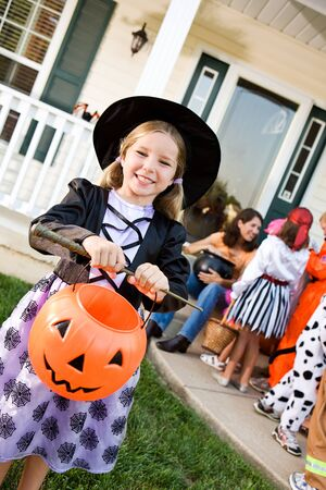 Halloween: Girl Ready to Trick or Treat