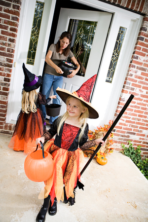 Halloween: Girl Ready For More Trick Or Treat After Getting Candy