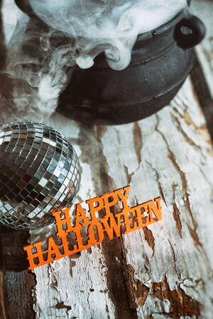 pócima: Halloween: Halloween feliz con la bola de discoteca y la poción mágica