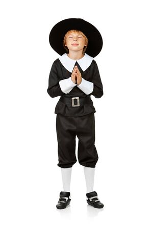 pilgrim costume: Thanksgiving: Pilgrim Boy Praying