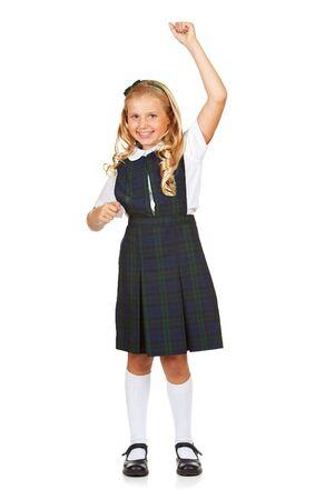 cheer full: Student: Girl Cheering For Education Stock Photo