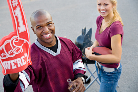 Tailgating: Guy Student Cheers For His Number One Team