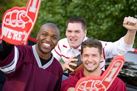 Tailgating: Guys Cheering On Favorite Team