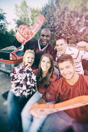 fanatic: Tailgating: Modern College Students Yelling For Football Team