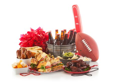 food stuff: Football: Game Day Food And Stuff Ready For Party