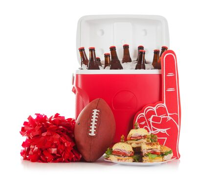 Football: Food And Drink Ready For Party