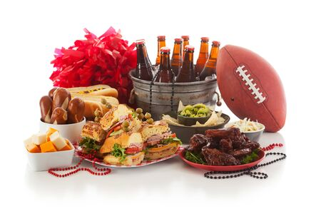 hero sandwich: Football: Game Day Food And Stuff Ready For Party