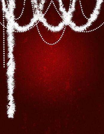 Holiday: Christmas Grunge Tinsel Background Stock Photo