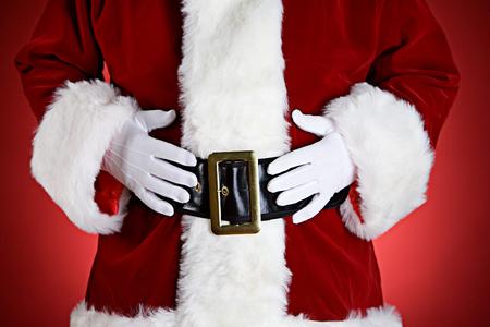 산타 : 손으로 뱃속에 산타