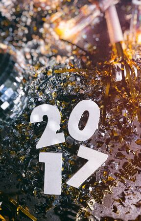 2017 New Years Eve Grunge Background