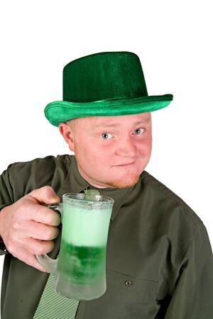 green beer: Leprechaun: Having A Green Beer
