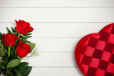 Valentines: Heart Candy Box and Flowers