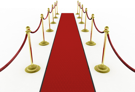 One of a series of 3d computer graphic renders.  A fancy red carpet in various compositions.