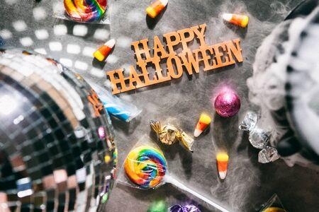 wispy: Halloween: Happy Halloween Message With Treats And Fun