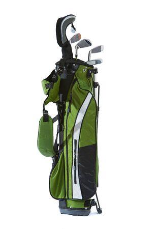 Aislado en blanco bolsa de palos de golf de tamaño infantil. Foto de archivo - 87903905