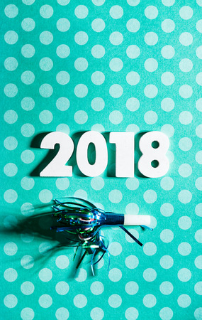 New Year: Celebrate 2018 With A Noisemaker And Polka Dots