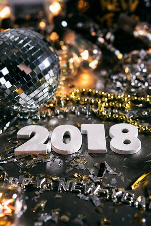 New Year: 2018 NYE Party With Mirror Ball