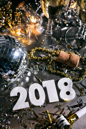 New Year: Champage And Party For 2018 NYE